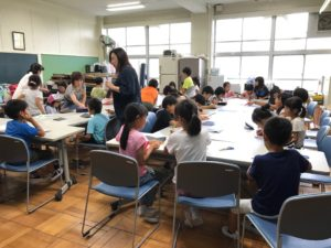 豊中市立熊野田小学校にて(9月)